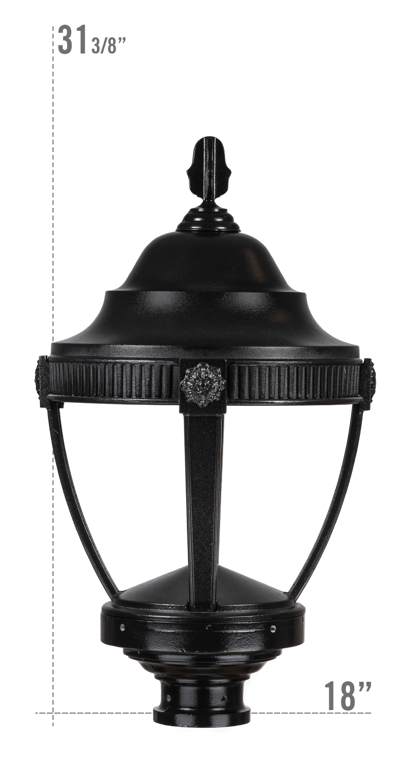 AUGUSTA LED LUMINAIRE WITH DUNMORE FITTER DARK SKY