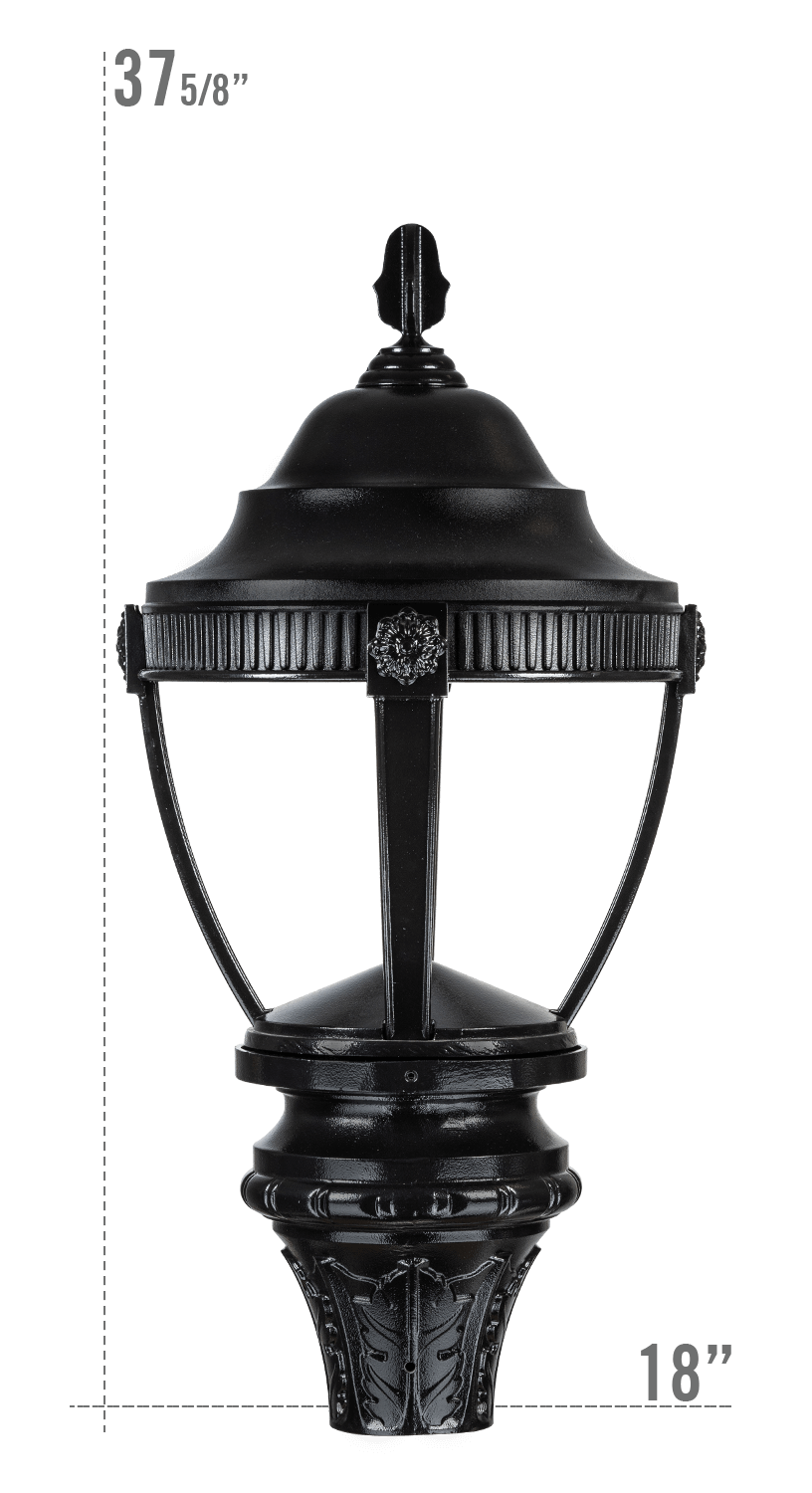AUGUSTA LED LUMINAIRE WITH NEW FRONTIER FITTER DARK SKY