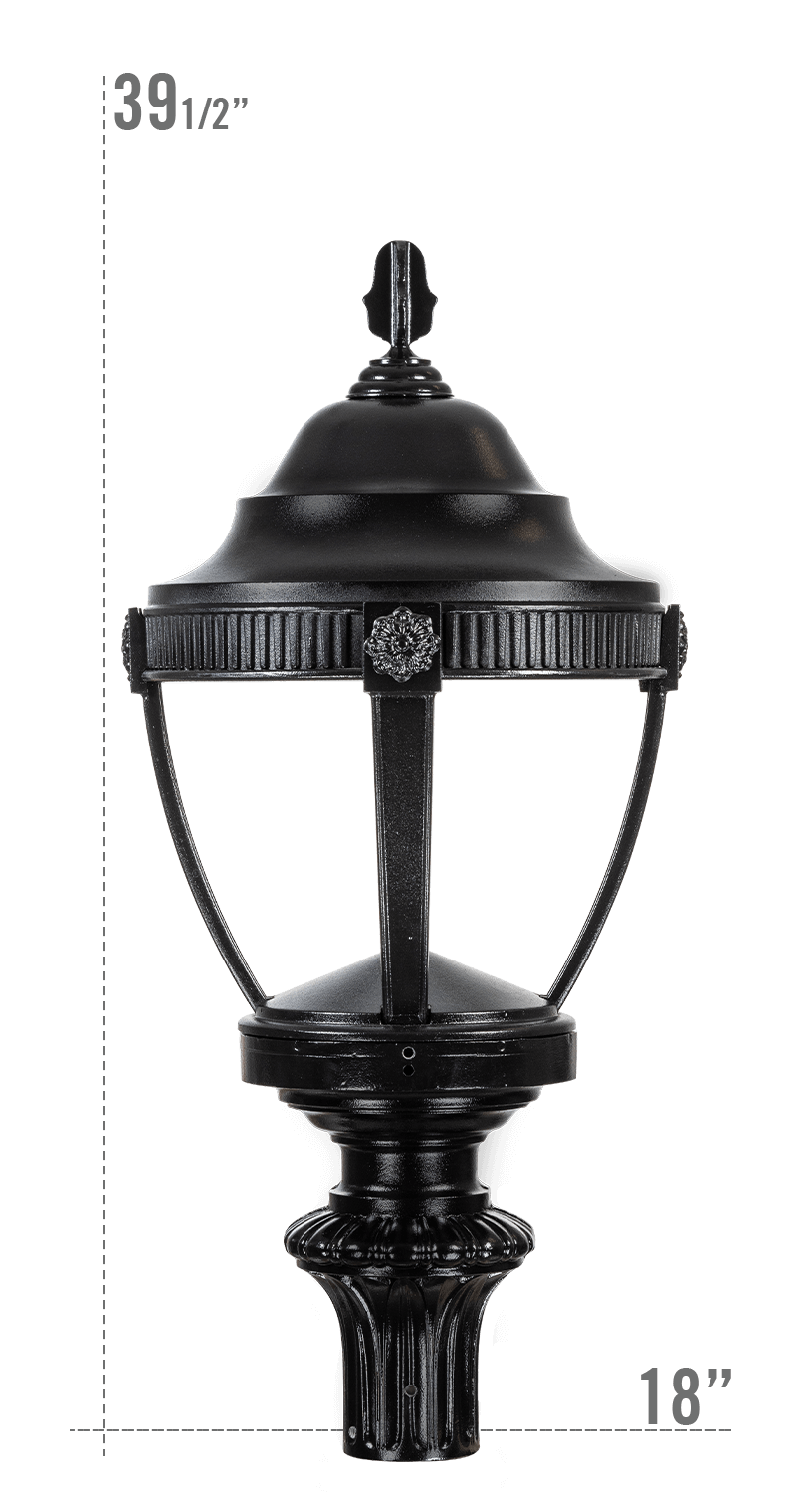 AUGUSTA LED LUMINAIRE WITH WASHINGTON FITTER DARK SKY