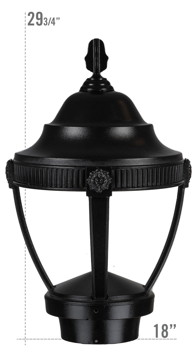 AUGUSTA LED LUMINAIRE WITH VILLANOVA LARGE FITTER DARK SKY